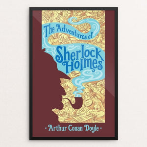 "The Adventures of Sherlock Holmes by Rob Peters 12"" by 18"" Print / Framed Print Recovering the Classics"