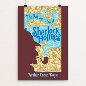 "The Adventures of Sherlock Holmes by Rob Peters 12"" by 18"" Print / Unframed Print Recovering the Classics"
