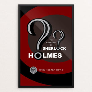 "The Adventures of Sherlock Holmes by Robert Wallman 12"" by 18"" Print / Framed Print Recovering the Classics"
