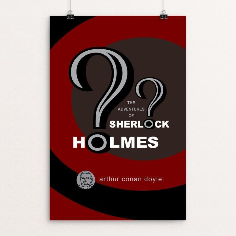 "The Adventures of Sherlock Holmes by Robert Wallman 12"" by 18"" Print / Unframed Print Recovering the Classics"