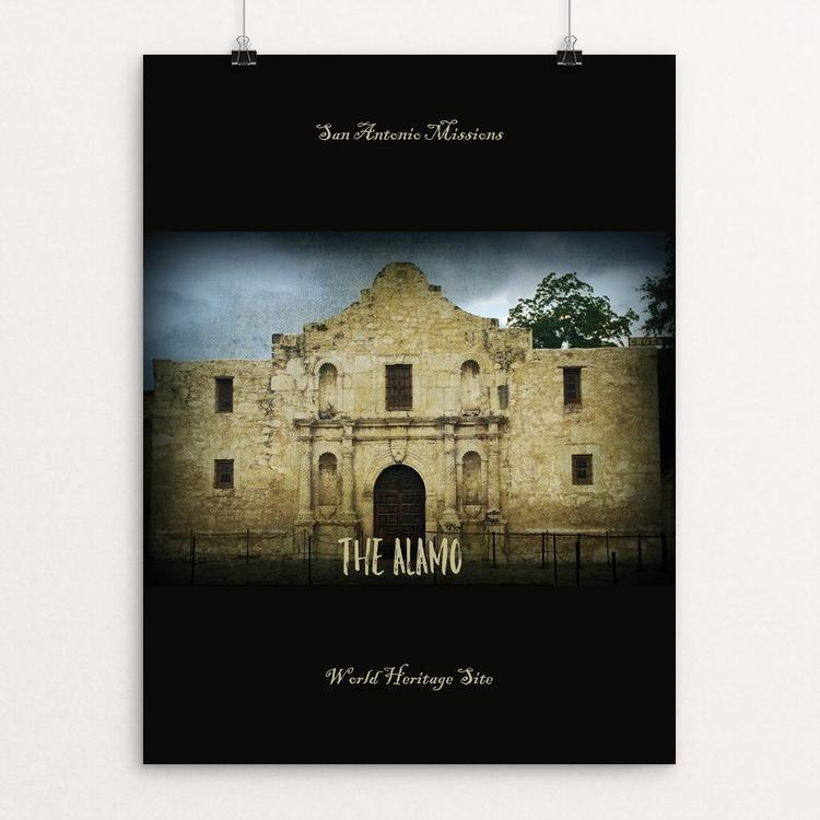 "The Alamo San Antonio Missions World Heritage Site by Bryan Bromstrup 12"" by 16"" Print / Unframed Print See America"