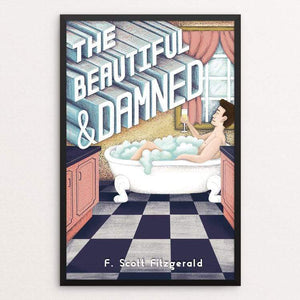 "The Beautiful and Damned by Savanna Steffens 12"" by 18"" Print / Framed Print Recovering the Classics"
