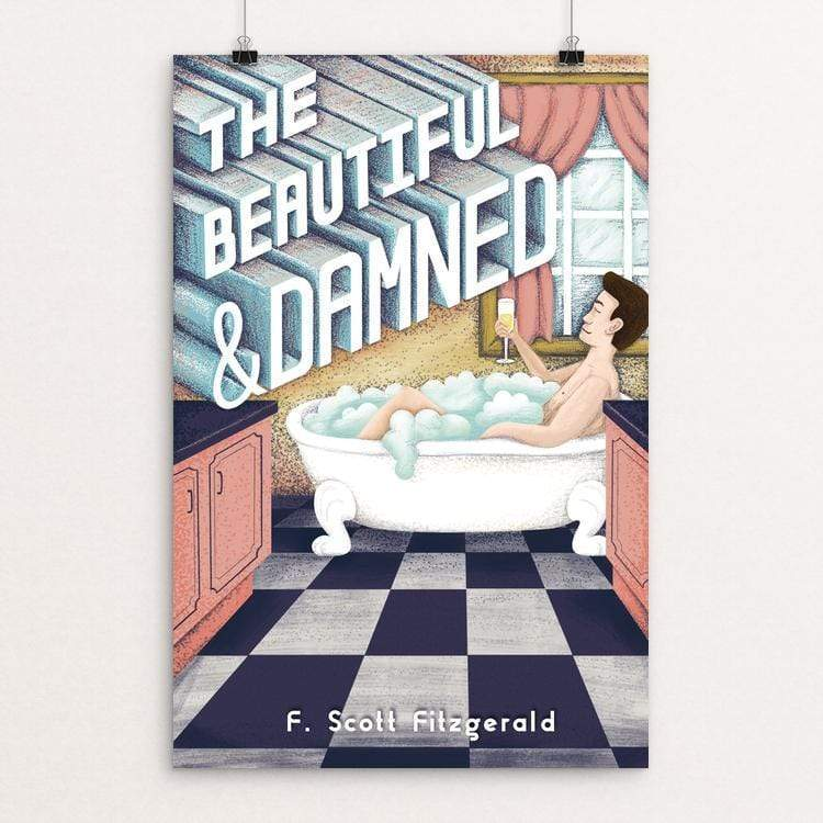 "The Beautiful and Damned by Savanna Steffens 12"" by 18"" Print / Unframed Print Recovering the Classics"