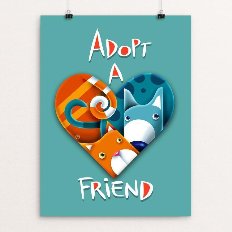 "The best friend by Elena Ospina 12"" by 16"" Print / Unframed Print Creative Action Network"
