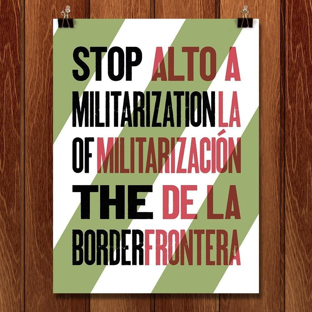 "The Border - Seven by Mr. Furious 12"" by 16"" Print / Unframed Print Migration Nation"