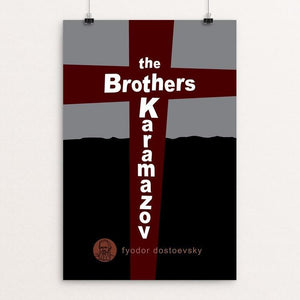 "The Brothers Karamazov by Robert Wallman 12"" by 18"" Print / Unframed Print Recovering the Classics"
