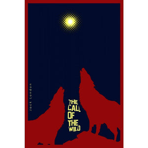 "The Call of the Wild 4 by Bob Rubin 12"" by 18"" Print / Unframed Print Recovering the Classics"