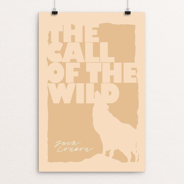 "The Call of the Wild by Bob Rubin 12"" by 18"" Print / Unframed Print Recovering the Classics"