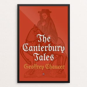 "The Canterbury Tales by Ed Gaither 12"" by 18"" Print / Framed Print Recovering the Classics"