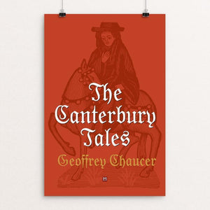 "The Canterbury Tales by Ed Gaither 12"" by 18"" Print / Unframed Print Recovering the Classics"
