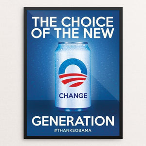 "The Choice of the New Generation by Roberlan Paresqui 12"" by 16"" Print / Framed Print Design For Obama"