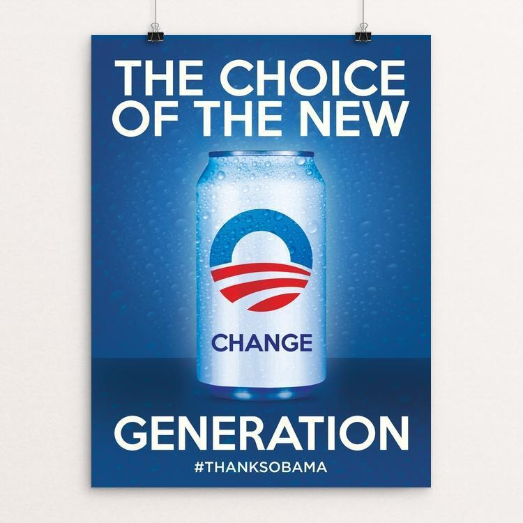 "The Choice of the New Generation by Roberlan Paresqui 12"" by 16"" Print / Unframed Print Design For Obama"