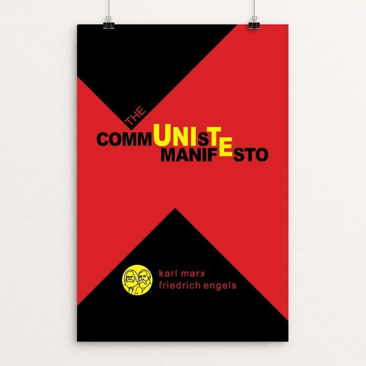 "The Communist Manifesto by Robert Wallman 12"" by 18"" Print / Unframed Print Recovering the Classics"