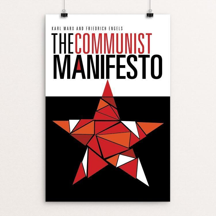 "The Communist Manifesto by tracy cox 12"" by 18"" Print / Unframed Print Recovering the Classics"