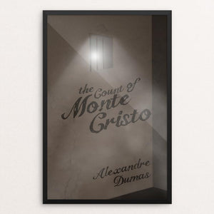 "The Count of Monte Cristo by Amanda Insalaco 12"" by 18"" Print / Framed Print Recovering the Classics"
