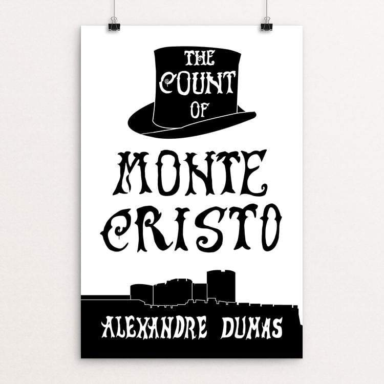 "The Count of Monte Cristo by Amanda Insalaco 12"" by 18"" Print / Unframed Print Recovering the Classics"
