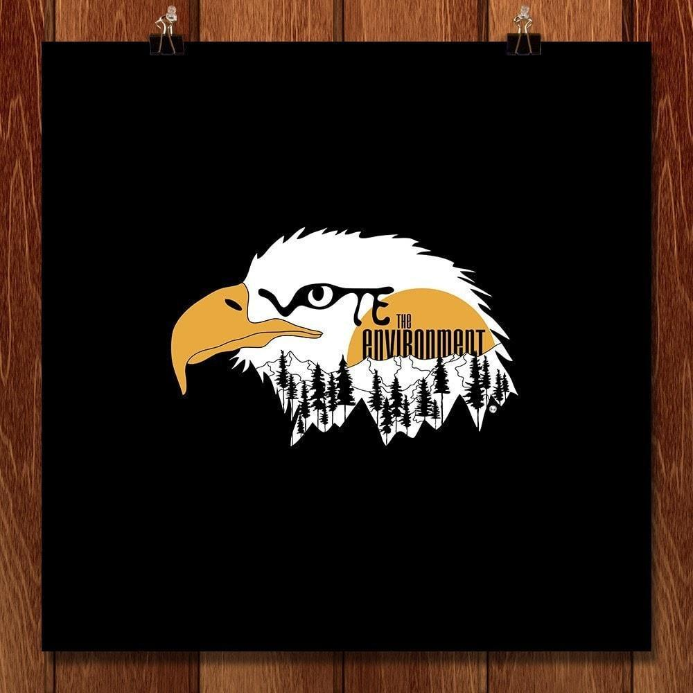 "The Eagle Has Landed by Kat Bush 12"" by 12"" Print / Unframed Print Vote the Environment"