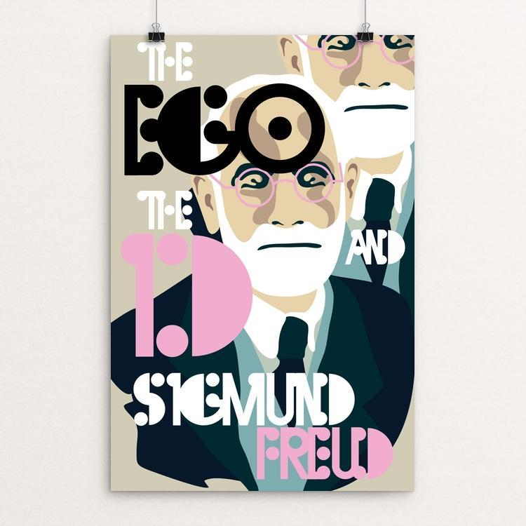 "The Ego and the Id by Trevor Messersmith 12"" by 18"" Print / Unframed Print Recovering the Classics"