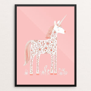 "The Fabulous Unicorn by Nic Squirrell 12"" by 16"" Print / Framed Print Creative Action Network"