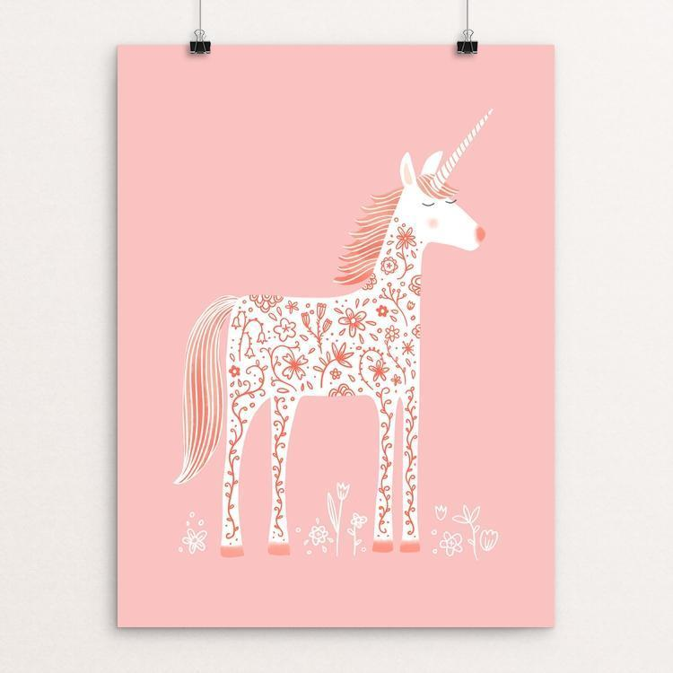 "The Fabulous Unicorn by Nic Squirrell 12"" by 16"" Print / Unframed Print Creative Action Network"