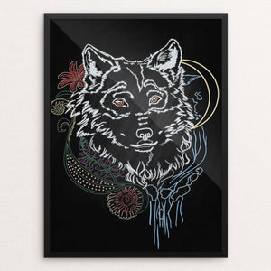 "The Face of the Wild by Sarah Matthews 12"" by 16"" Print / Framed Print Join the Pack"