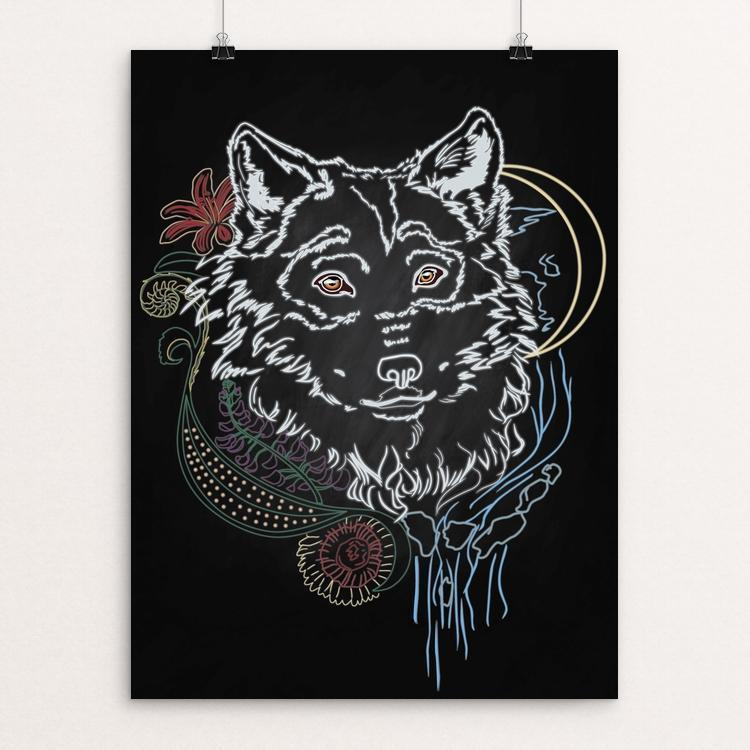"The Face of the Wild by Sarah Matthews 12"" by 16"" Print / Unframed Print Join the Pack"