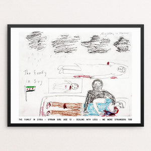"The Family in Syria by David Gross 12"" by 16"" Print / Framed Print We Were Strangers Too"