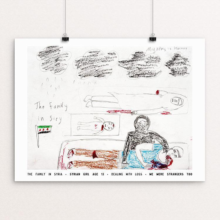 "The Family in Syria by David Gross 12"" by 16"" Print / Unframed Print We Were Strangers Too"