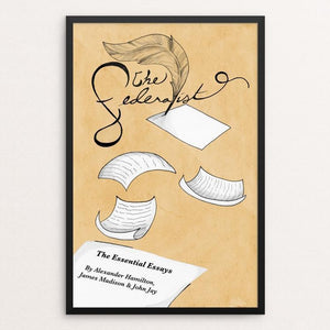 "The Federalist Papers by Mia Clark 12"" by 18"" Print / Framed Print Recovering the Classics"