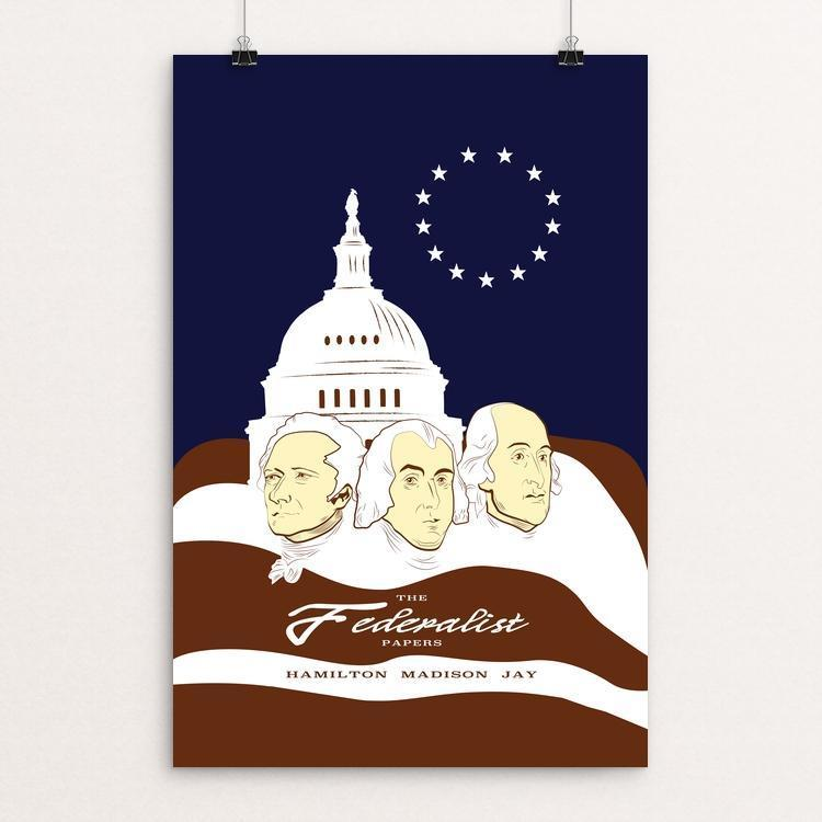 "The Federalist Papers by Zelda Vidal 12"" by 18"" Print / Unframed Print Recovering the Classics"