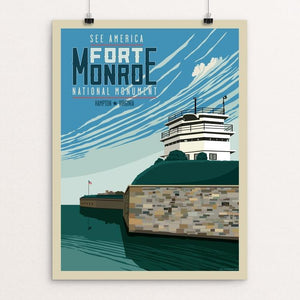 "The Fort Monroe National Monument by Don Henderson 12"" by 16"" Print / Unframed Print See America"