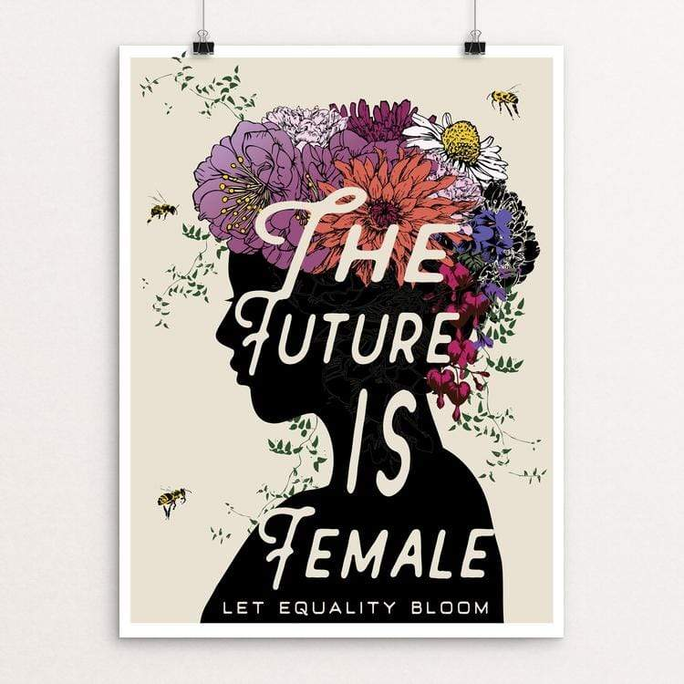 "The Future is Female by Brooke Fischer 18"" by 24"" Print / Unframed Print Creative Action Network"