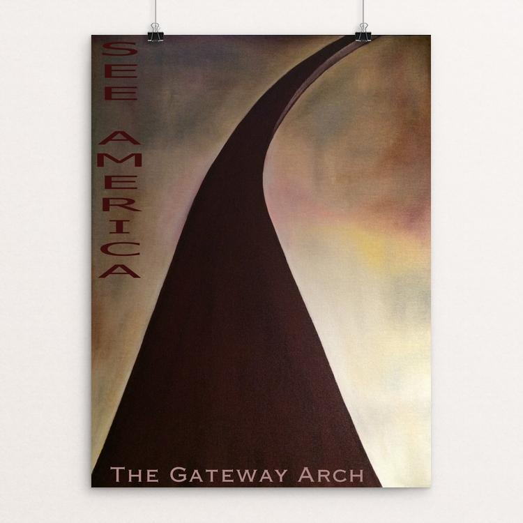 "The Gateway Arch, Jefferson National Expansion Memorial by Bryan Bromstrup 12"" by 16"" Print / Unframed Print See America"