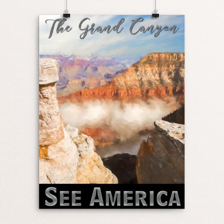 "The Grand Canyon by Sheri Emerson 12"" by 16"" Print / Unframed Print See America"