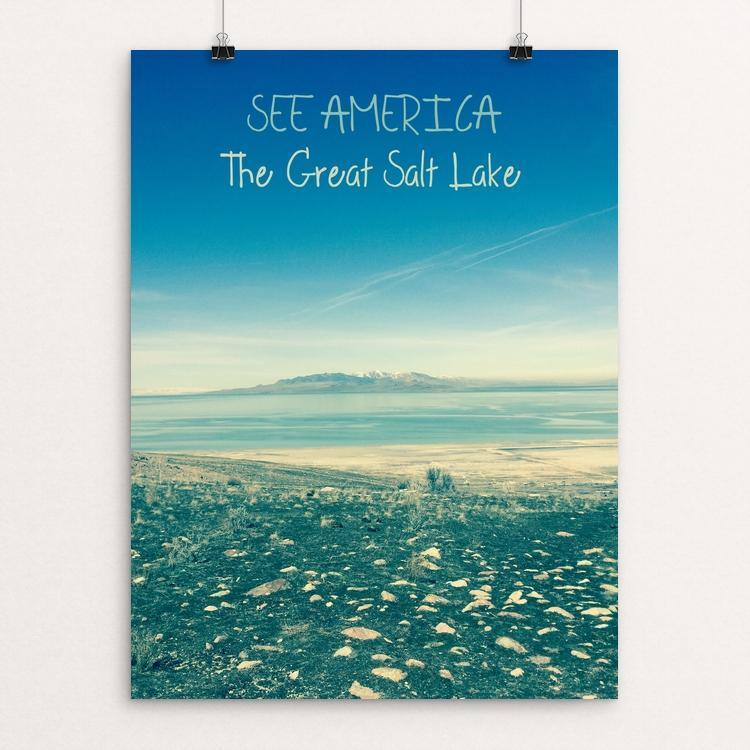 "The Great Salt Lake by Bryan Bromstrup 12"" by 16"" Print / Unframed Print See America"