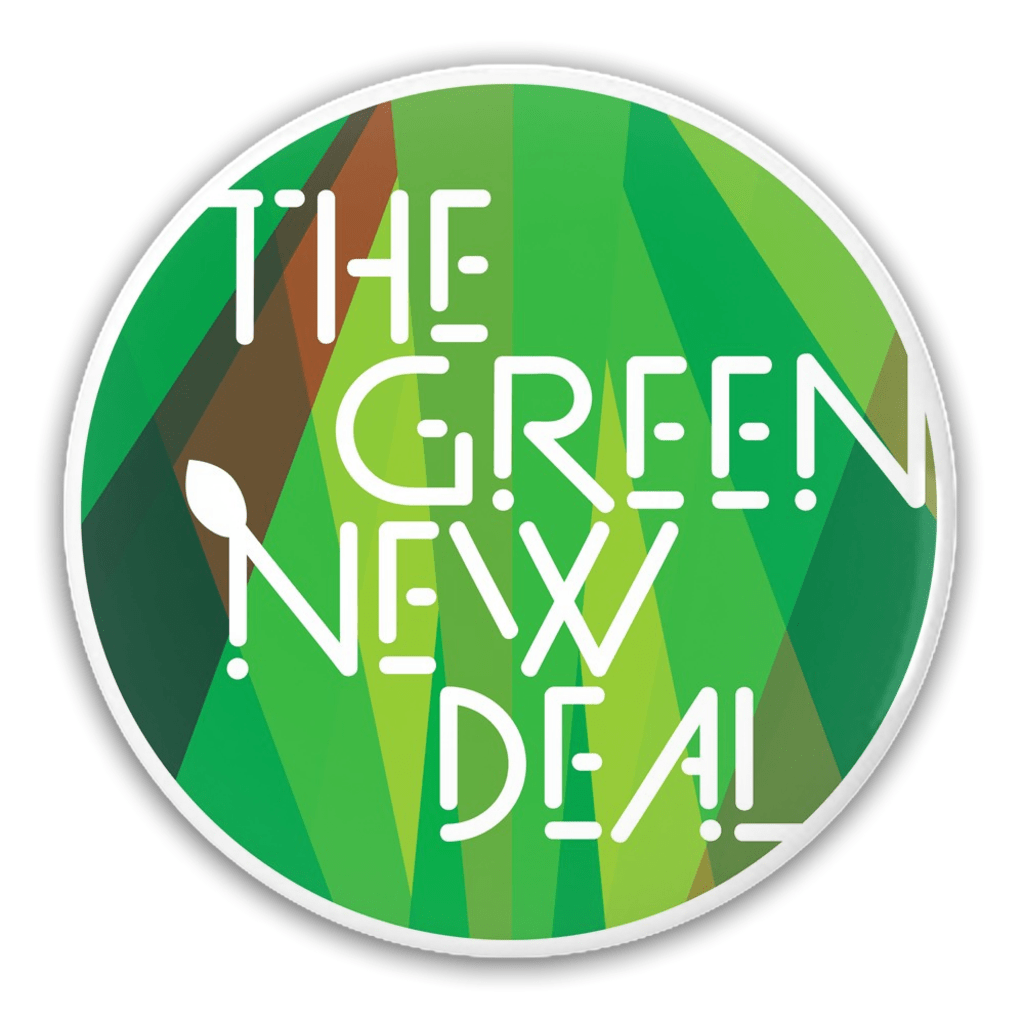 The Green New Deal Button by Trevor Messersmith 1 Pack Buttons Green New Deal