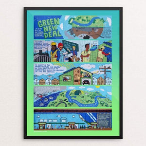 "The Green New Deal by Patrick Hershberger 18"" by 24"" Print / Framed Print Green New Deal"