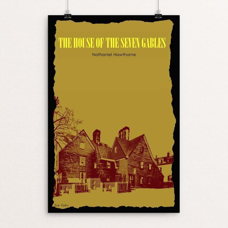"The House of the Seven Gables 2 by Bob Rubin 12"" by 18"" Print / Unframed Print Recovering the Classics"