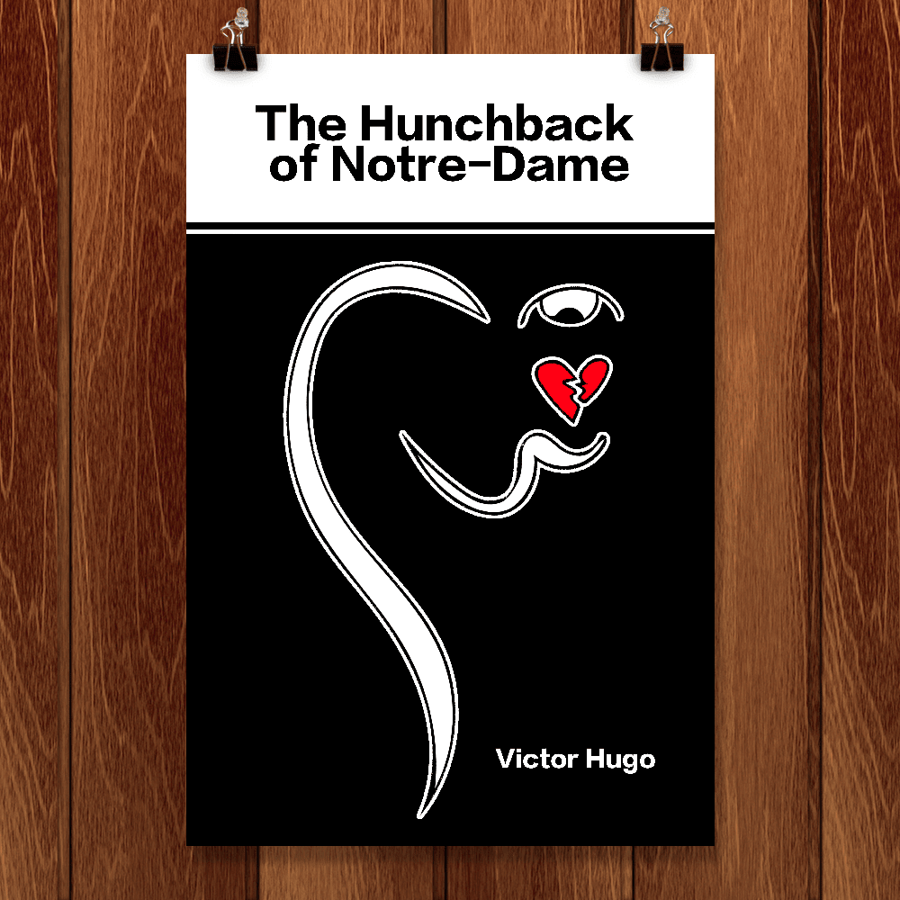 "The Hunchback of Notre Dame by Ashley Slade 12"" by 18"" Print / Unframed Print Recovering the Classics"