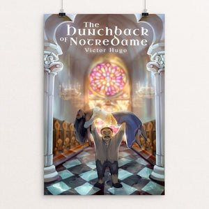 "The Hunchback of Notre Dame by Daniella Catanzaro 12"" by 18"" Print / Unframed Print Recovering the Classics"