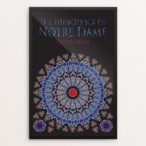 "The Hunchback of Notre Dame by Kelli Albracht 12"" by 18"" Print / Framed Print Recovering the Classics"