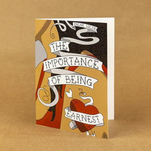 The Importance of Being Ernest Notecard by Coral Nafziger 4.25x5.5 inch Notecard Recovering the Classics