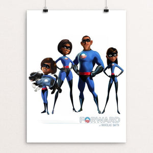 "The Incredible Obamas by Nikkolas Smith 12"" by 16"" Print / Unframed Print Design for Obama"