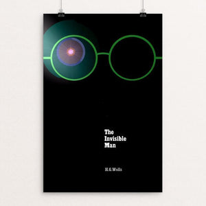 "The Invisible Man by Bob Rubin 12"" by 18"" Print / Unframed Print Recovering the Classics"