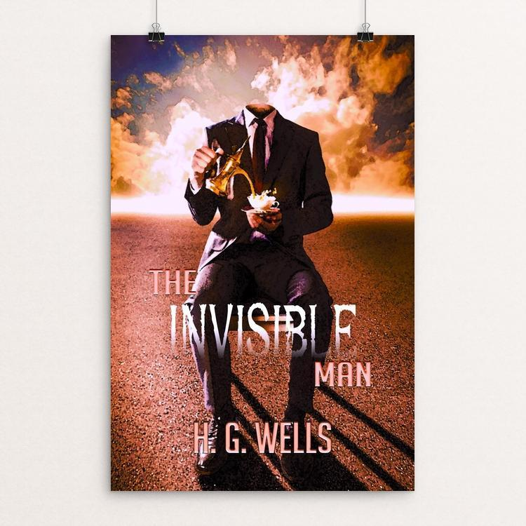"The Invisible Man by C A Speakman 12"" by 18"" Print / Unframed Print Recovering the Classics"