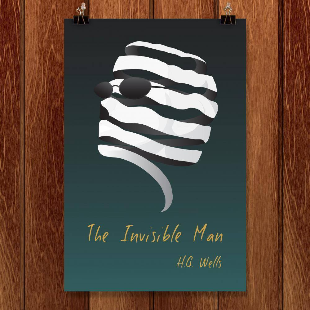 "The Invisible Man by Eldo Mathew 12"" by 18"" Print / Unframed Print Recovering the Classics"