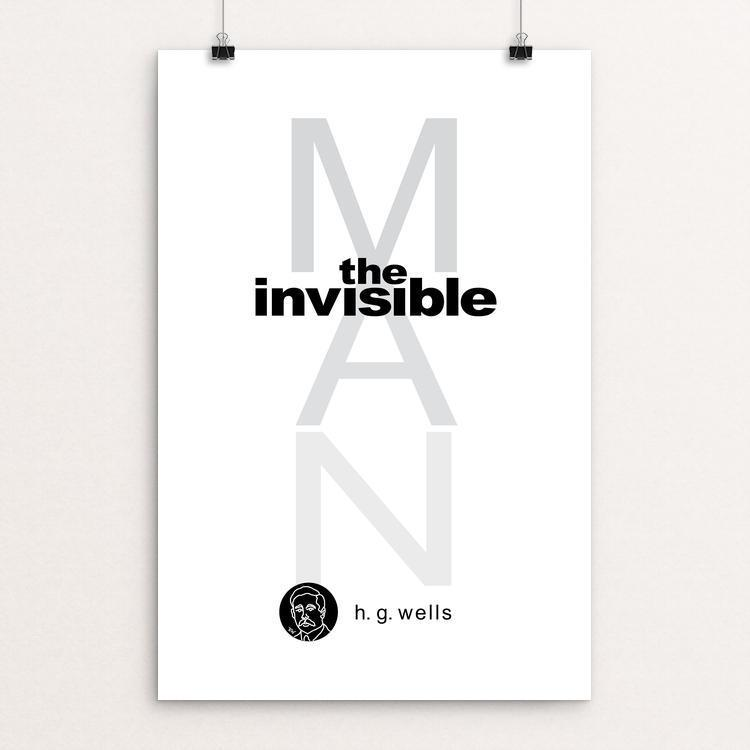 "The Invisible Man by Robert Wallman 12"" by 18"" Print / Unframed Print Recovering the Classics"