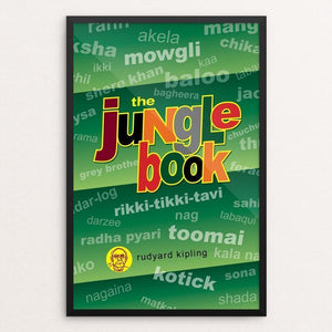 "The Jungle Book by Robert Wallman 12"" by 18"" Print / Framed Print Recovering the Classics"