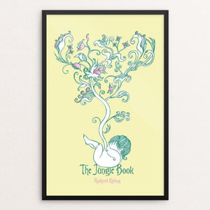 "The Jungle Book by Roberto Lanznaster 12"" by 18"" Print / Framed Print Recovering the Classics"