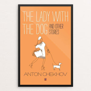 "The Lady with the Dog and Other Stories by Ed Gaither 12"" by 18"" Print / Framed Print Recovering the Classics"